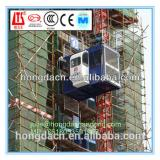 SHANDONG HONGDA Double Cages 2 Ton Capacity Construction Elevator SC200/200XP