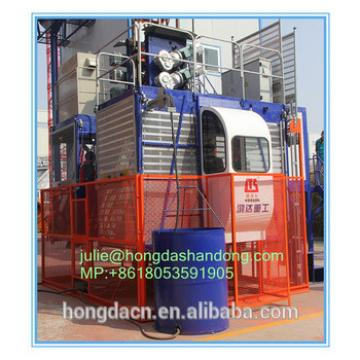 Shandong HONGDA TIELISHI Single cage SCD200 construction elevator loading capacity 2 ton