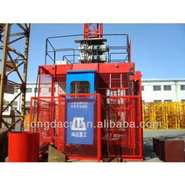 HONGDA Three Transfer Motors Frequency alterable Construction Elevator