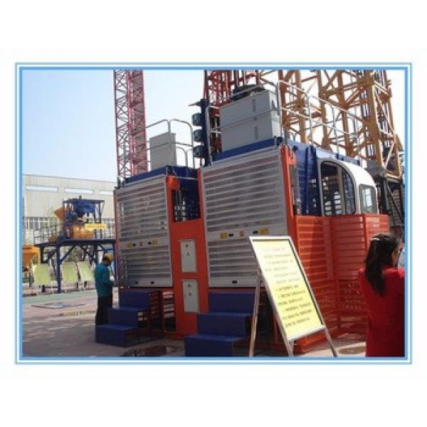 Double Cages 2T Chinese HONGDA SC200 200 With High Quality Construction Elevator #1 image