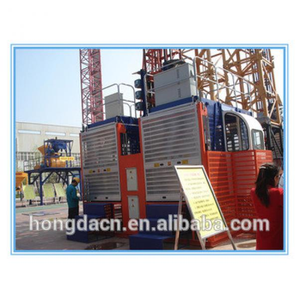 HONGDA double cage SC100 100 Construction Lifter #1 image