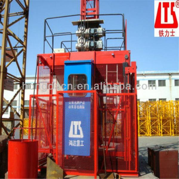 HONGDA HIGH QUALITY Construction Passenger Elevator SC200 200 Double Cages #1 image
